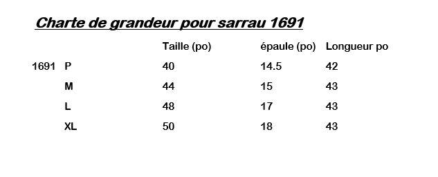 charte pour sarrau 1691 Québec